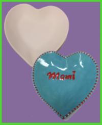 Szív formájú tányér 2<br/>(18 cm)