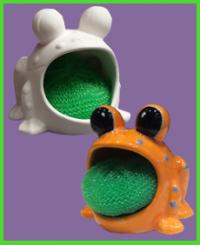 Mosogatószivacs tartó béka <br/>(12 cm)