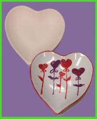Szív formájú tányér 1<br/>(12 cm)