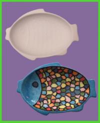 Halacska formájú tányér 1<br/>(22 cm)