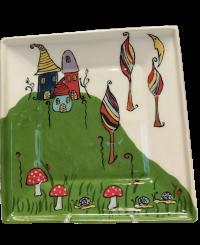 Négyszögletes tányér 2<br/>(25 cm)